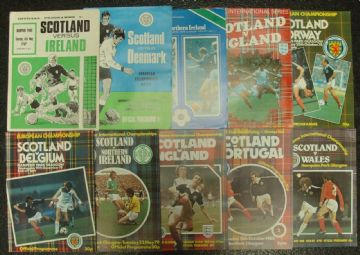 Collection of 10 different SCOTLAND football programmes